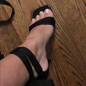 Stuart Weitzman size 9.5 lace-up stilettos